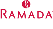 red and white Ramada corporate thumbnail size logo piece